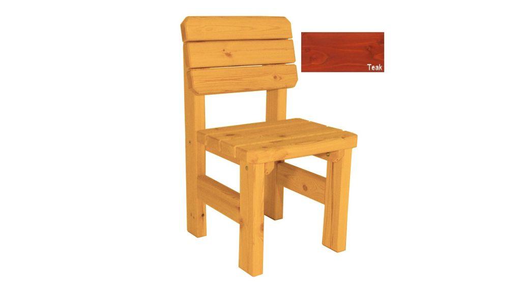 Zahradní dřevěná židle Darina - s povrchovou úpravou - TEAK