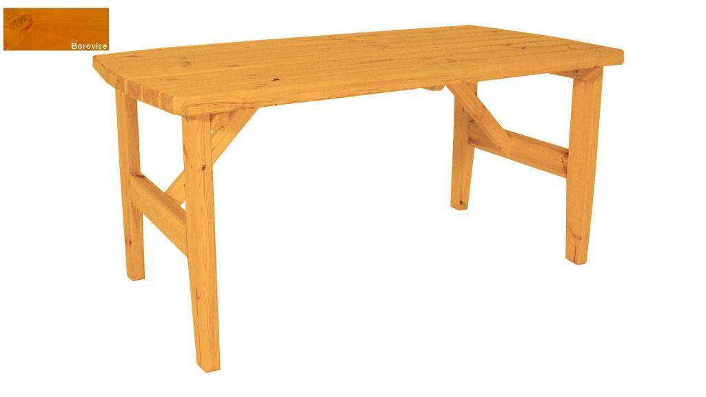 Zahradní dřevěný stůl Eduard - s povrchovou úpravou - 160 cm - BOROVICE