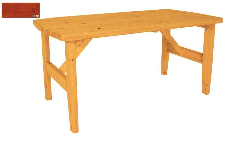 Zahradní dřevěný stůl Eduard - s povrchovou úpravou - 160 cm - TEAK