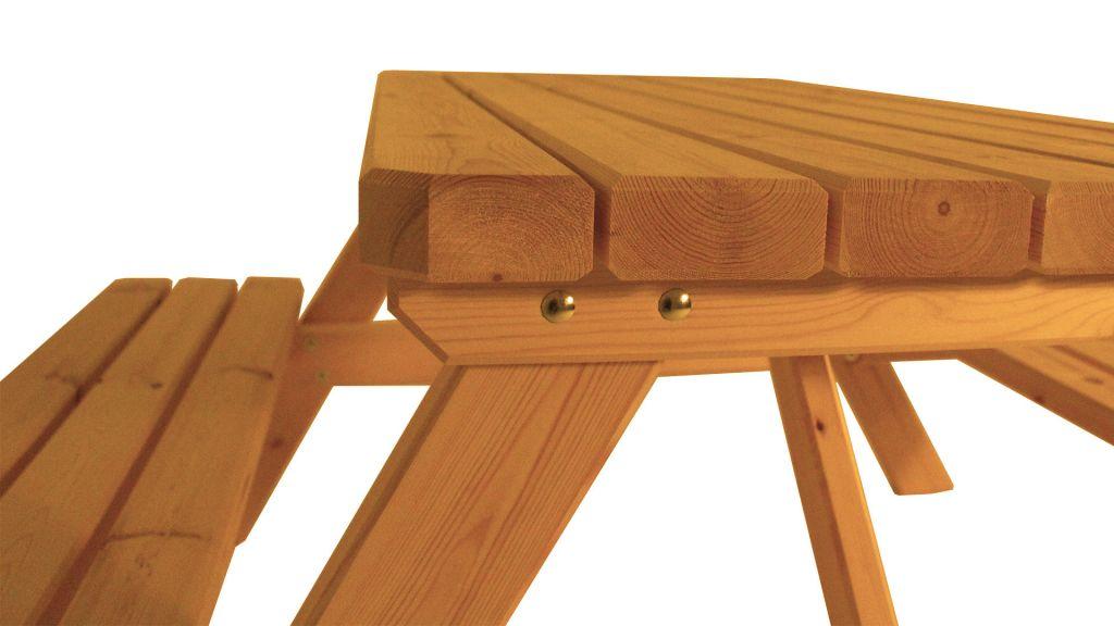 Zahradní set piknik - s povrchovou úpravou - 150 cm - BOROVICE