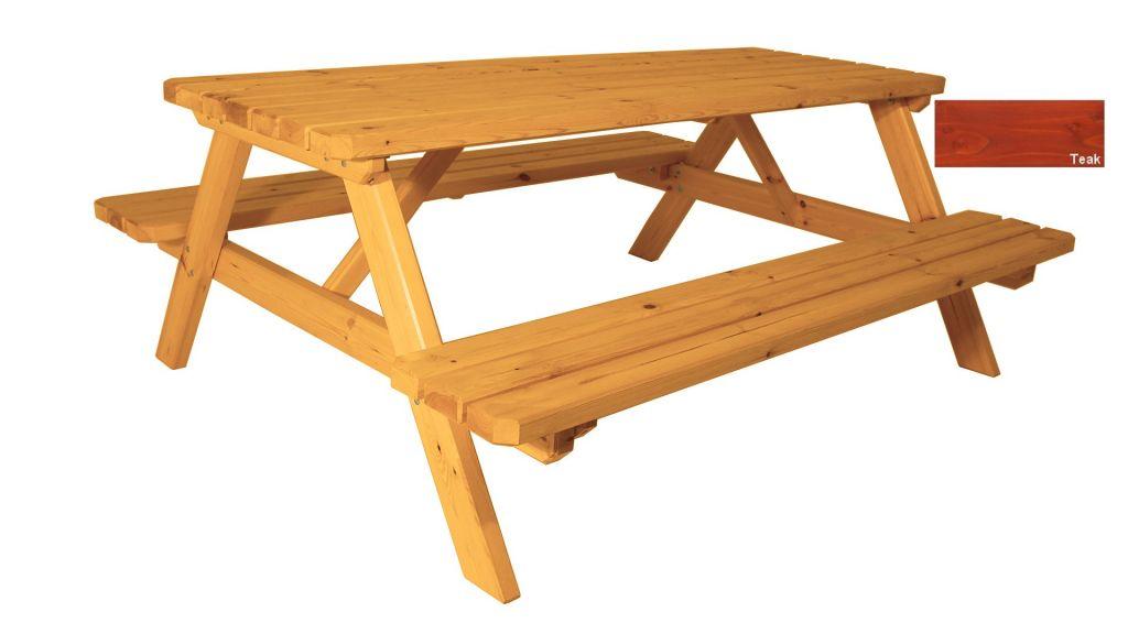 Zahradní set piknik - s povrchovou úpravou - 200 cm  - TEAK