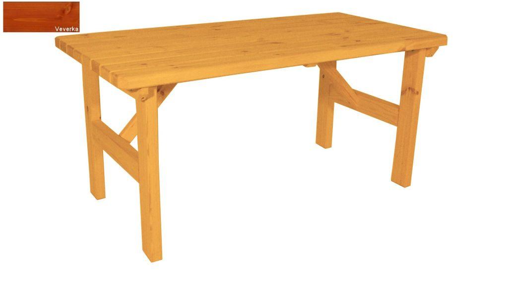 Zahradní dřevěný stůl Darina - s povrchovou úpravou - 160 cm - VEVERKA
