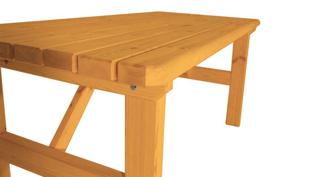 Zahradní dřevěný stůl Darina – s povrchovou úpravou – 160 cm – BOROVICE