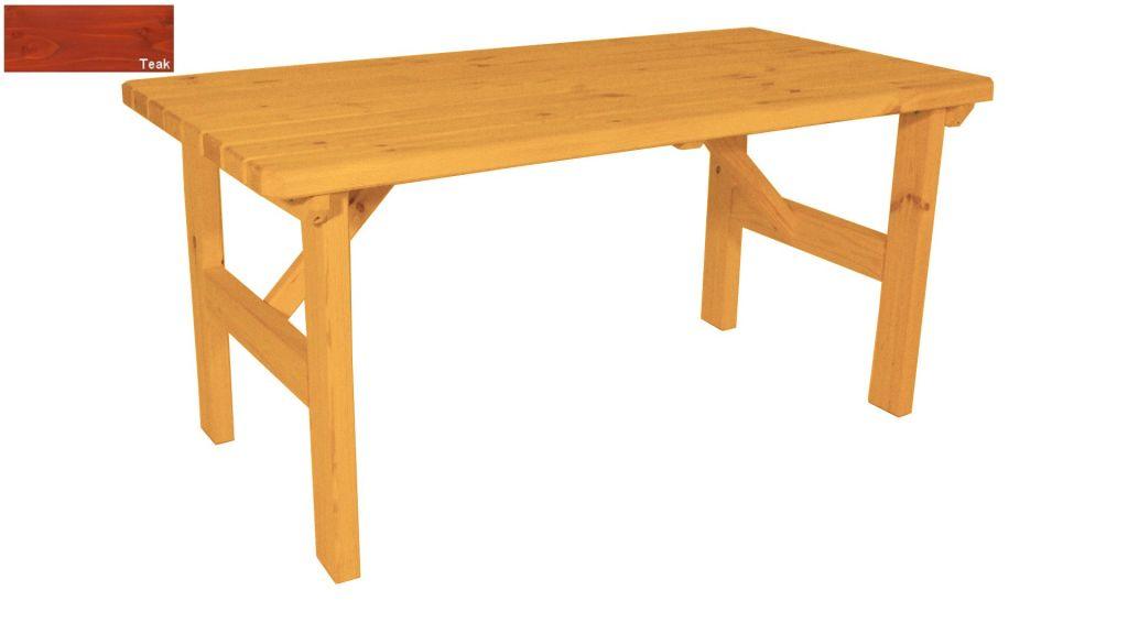 Zahradní dřevěný stůl Darina - s povrchovou úpravou - 160 cm - TEAK