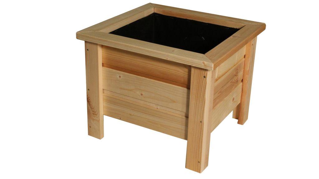 Dřevěný květináč Maceta – 40 x 40 x 37 cm