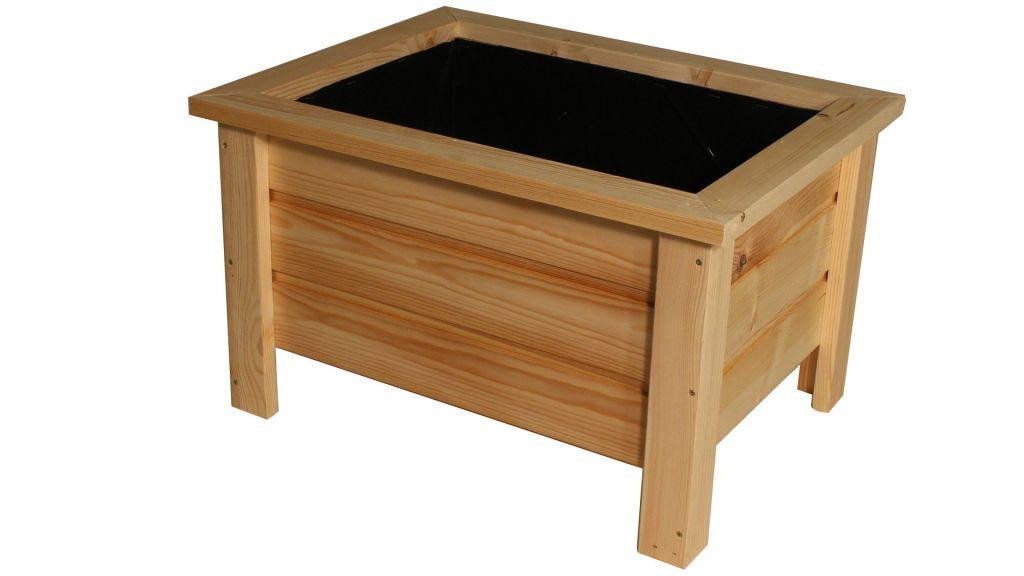 Dřevěný květináč Maceta – 58 x 45 x 37 cm