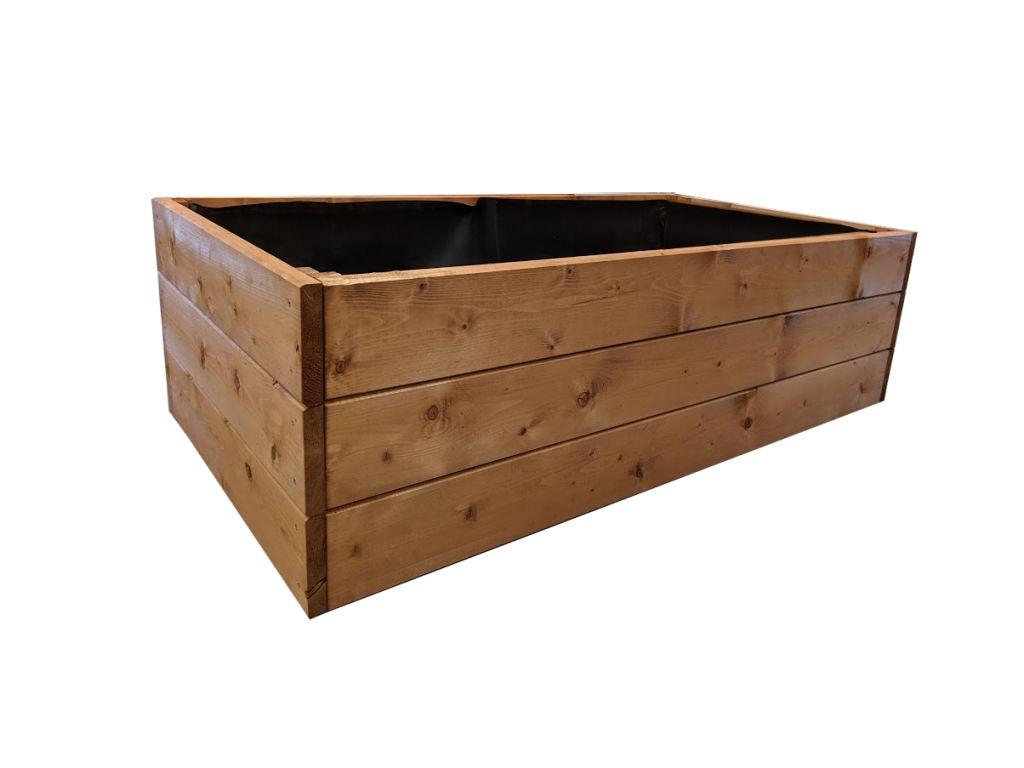 Dřevěný vyvýšený záhon Standard, 135 x 78 x 39 cm