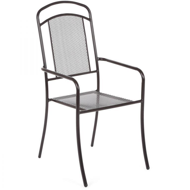 Zahradní kovová židle Venezia - černá