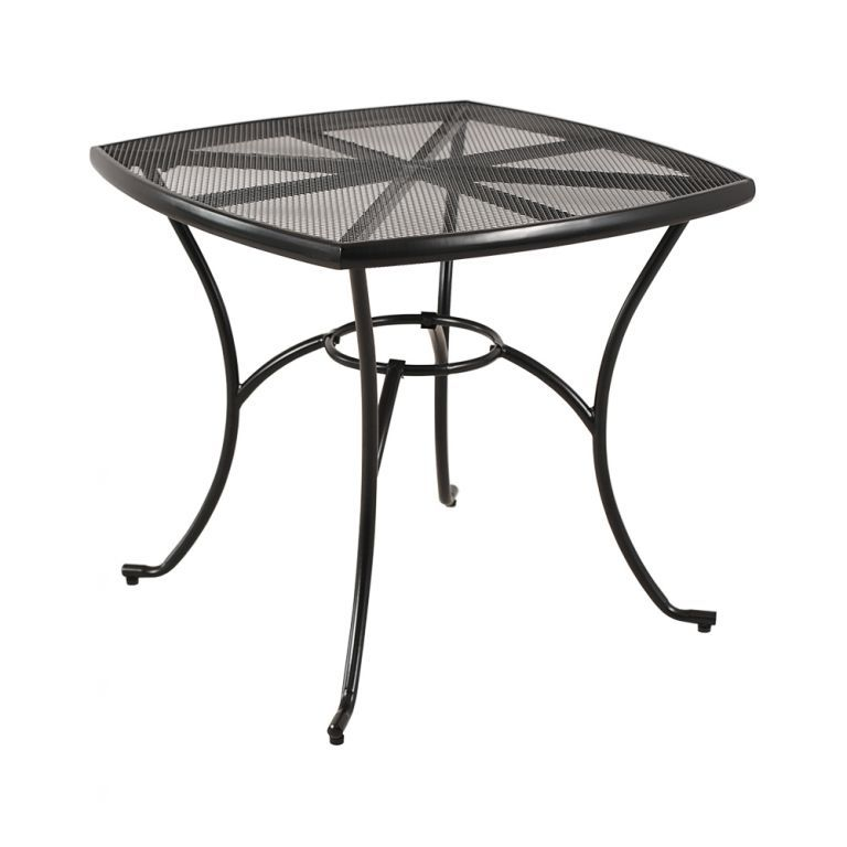 Zahradní kovový stůl Venezia 80 × 80 cm - černá