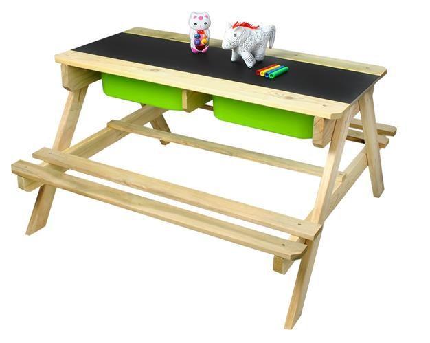 Dětský dřevěný zahradní set 2 v 1