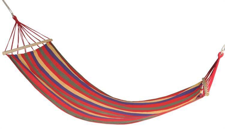Maxy 57217 Zahradní houpací síť s výztuhou 83x200 cm červená