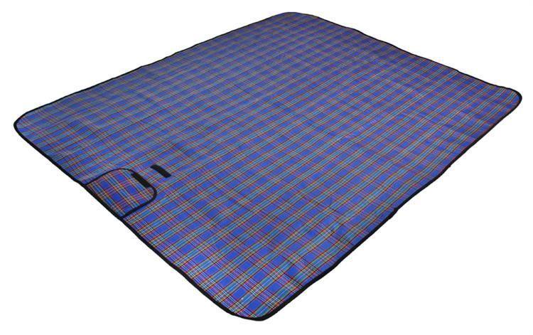 Pikniková deka – modrá kostka 180 x 145 cm