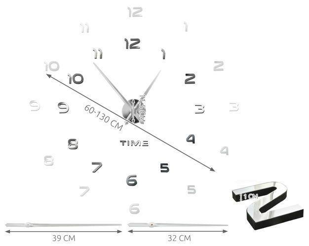 Nalepovací nástěnné hodiny DIY