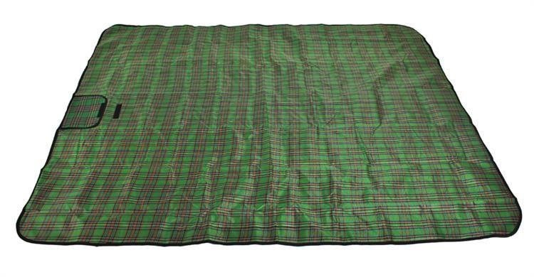 Pikniková deka - zelená kostka 180 X 145 cm