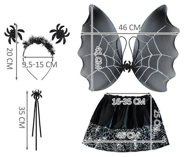 Kostým čarodějka- černá