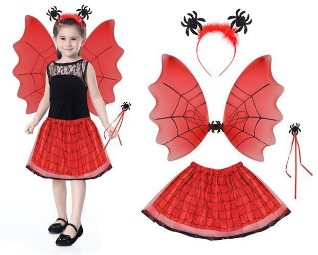 Kostým čarodějka - červená