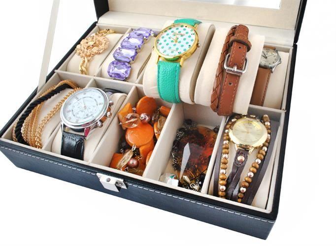 Organizér na hodinky a bižuterii - 10 přihrádek