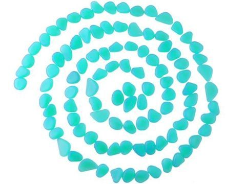 Sada svítících kamenů – 100 kusů – modrá