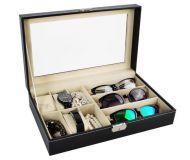 Organizér na hodinky a brýle- 9 přihrádek