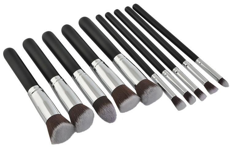 Set štětců na make-up – 10 ks