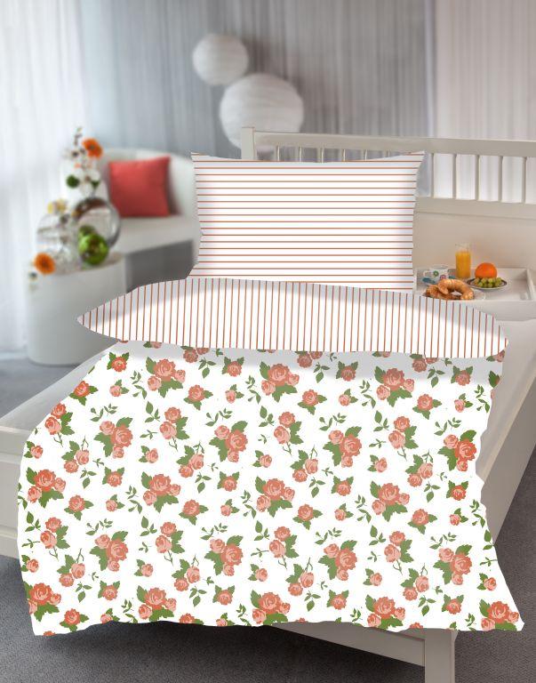 Ložní povlečení Barbara Flower - oranžová