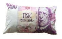 Dekorační polštář bankovka - 1000 Kč