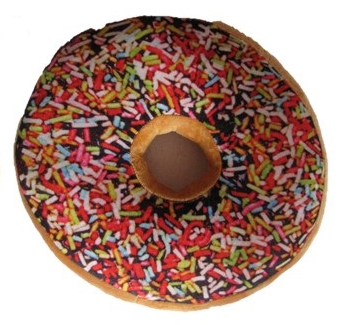 Polštář Donut 3D - barevný