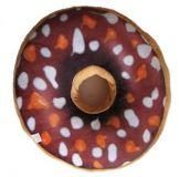 Polštář donut 3D - hnědý