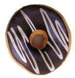 Polštář donut 3D - tmavě hnědý