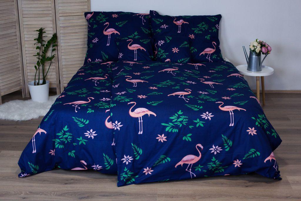 Bavlněné ložní povlečení 3 dílné Dita - Flamingo