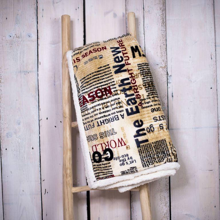 Deka 150 x 200 cm BERÁNEK - newspaper