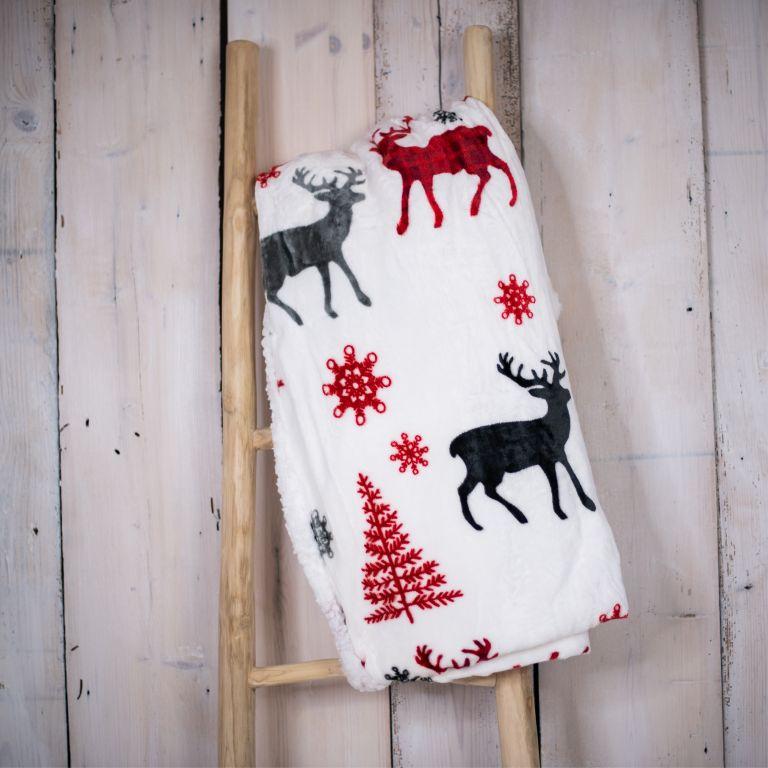 Deka 150 x 200 cm BERÁNEK - jelen červený