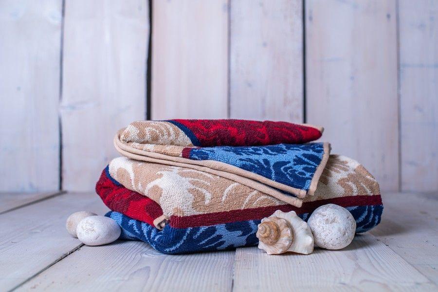 Set osušky + ručníku Orient - vínová