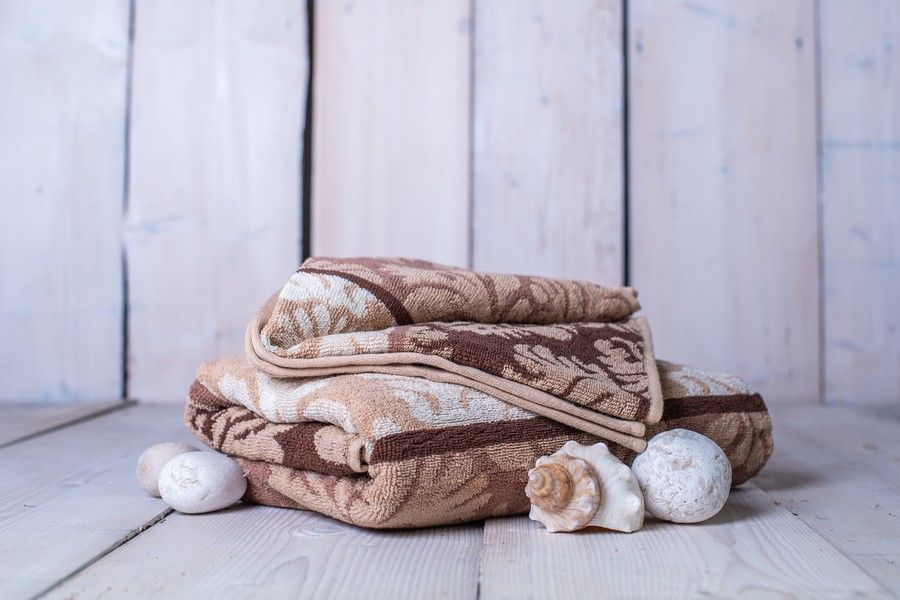 Set osuška + ručník Orient - hnědá