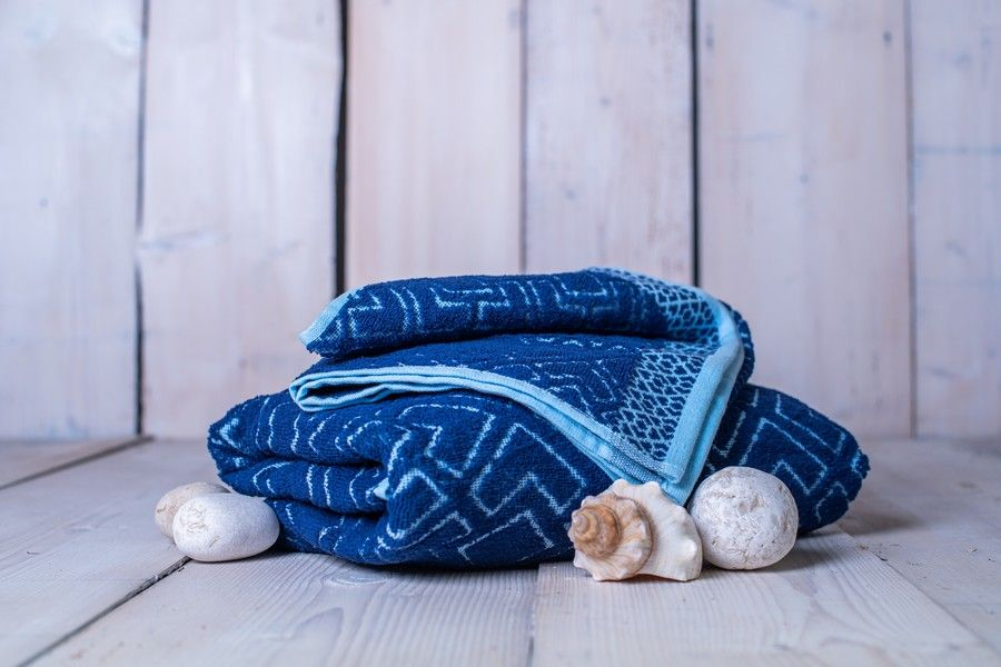 Set osuška + ručník Club - modrá