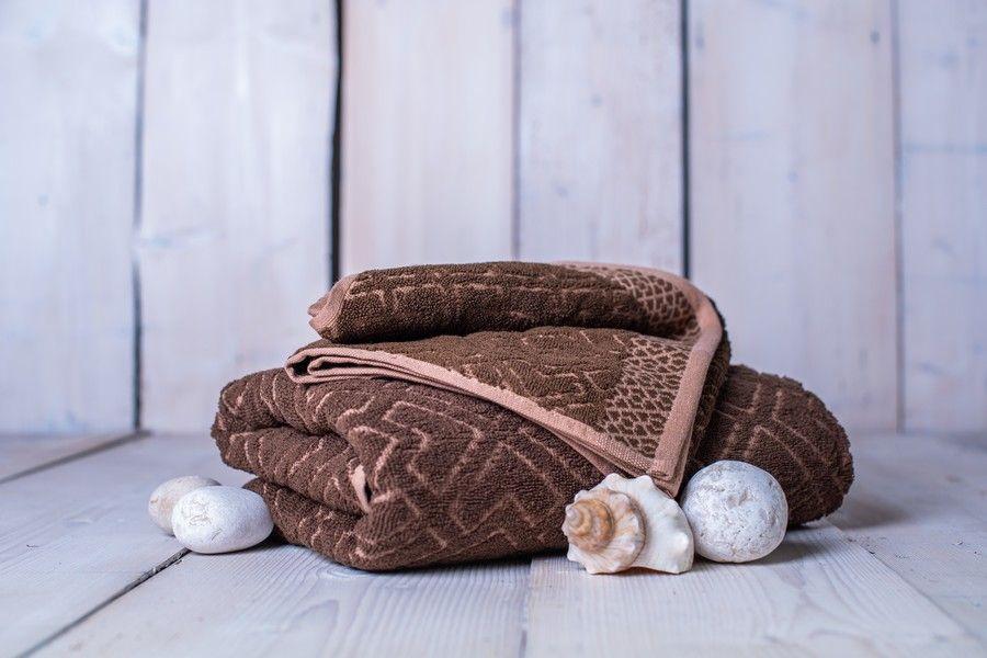 Set osušky a ručníku Club - hnědá