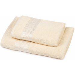 Set osuška + ručník Florina - smetanová