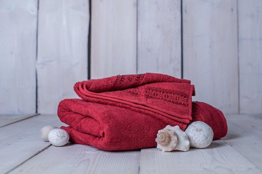 Set ručník + osuška Florina - vínová
