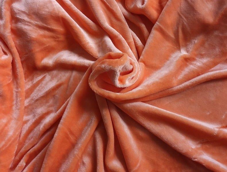 Mikroplyšové prostěradlo 180 x 200 cm - oranžová