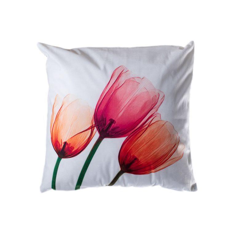 Povlak na polštář Tulips, 45 x 45 cm, oranžová