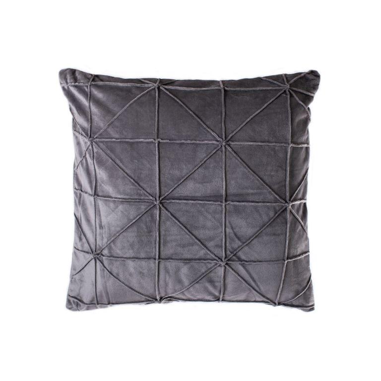 Povlak na polštář Amy, 45 x 45 cm, šedá