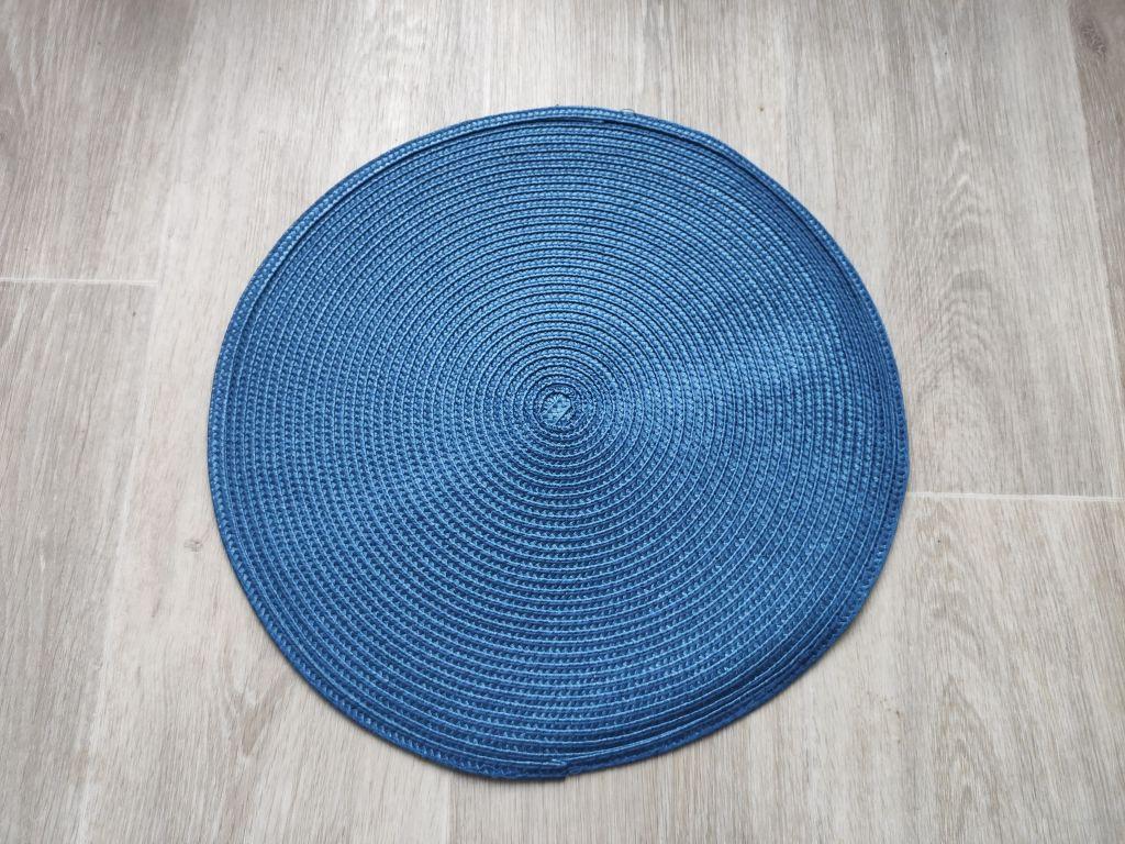 Prostírání kulaté 35 cm - královská modrá