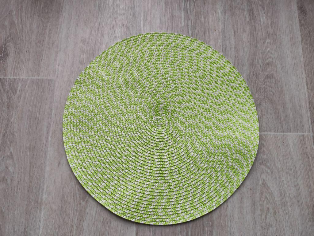 Prostíraní kulaté 38 cm - zelenobílá