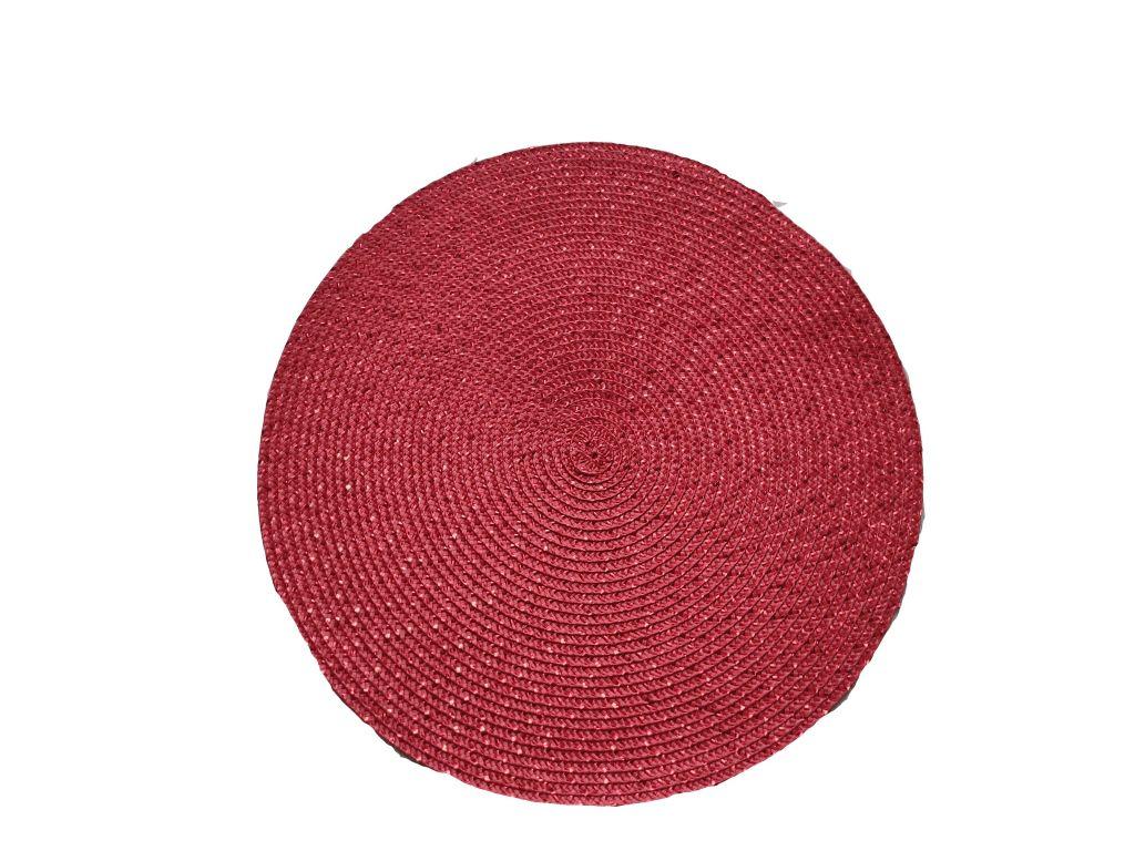 Prostíraní kulaté 38 cm - červené