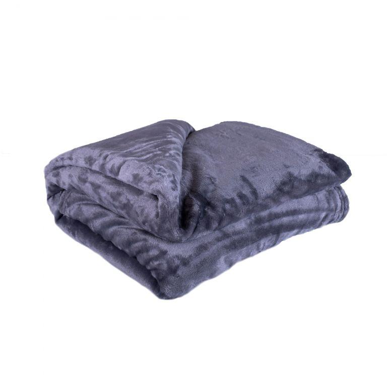 Deka z mikrovlákna 200 x 220 cm, tmavě šedá