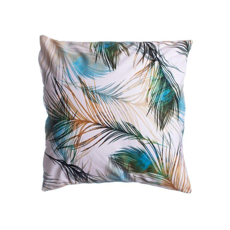 Povlak na polštář Pírka/páv kolekce č. 2, 45 x 45 cm