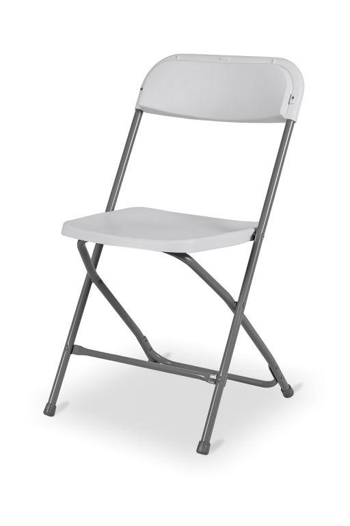 Skládací cateringová židle - bílá