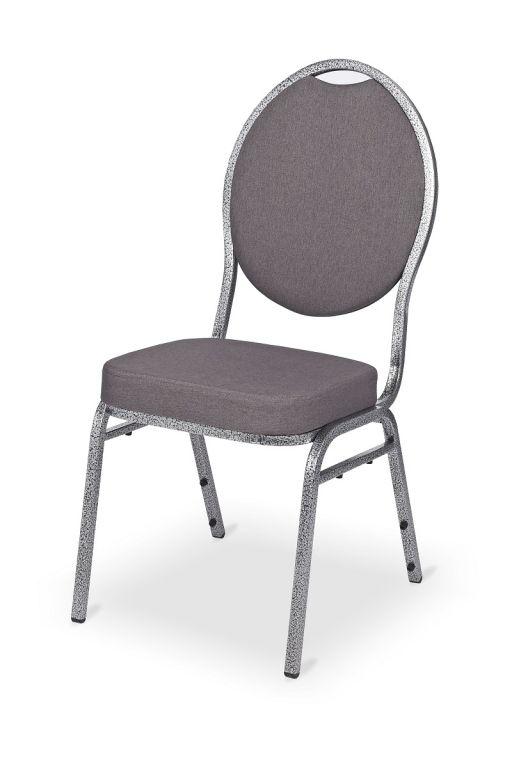 Kongresová židle kovová MONZA DELUXE - šedá