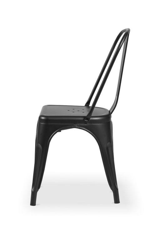 Bistro židle Paris inspirovaná TOLIX - černá