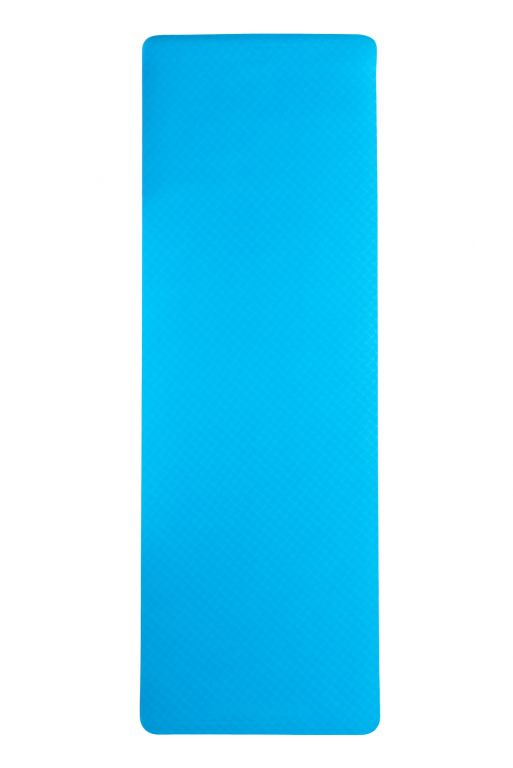Dvouvrstvá podložka na jógu 183 x 61 x 0,4 cm - MODRÁ